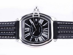 Fake Cartier Roadster fresca autom谩tico con Dial Negro Relojes AAA [ J8I4 ]