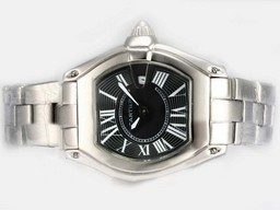 Fake Cartier Roadster Gorgeous Con Negro Dial- Ladys Modelo Relojes AAA [ Q3L3 ]