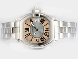 Fake Cartier Roadster Gorgeous Con Champagne Dial - Ladys Modelo Relojes AAA [ U5W3 ]