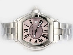 Fake Cartier Roadster Gorgeous con Dial-Pink Ladys Modelo Relojes AAA [ O2O7 ]
