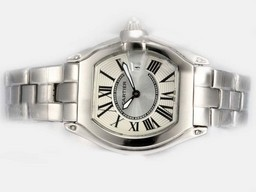 Fake Cartier Roadster con Gran Dial-Pink Ladys Modelo Relojes AAA [ A7B7 ]