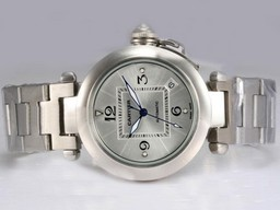 Fake Cartier Pasha Modern automtic con Silver Dial Relojes AAA [ R7G6 ]